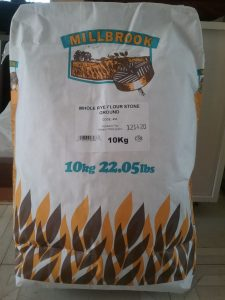 Dark rye flour, 10kg bag, from Grain Process Enterprises, Toronto, $12.50. Underwhelming store, but adequate.