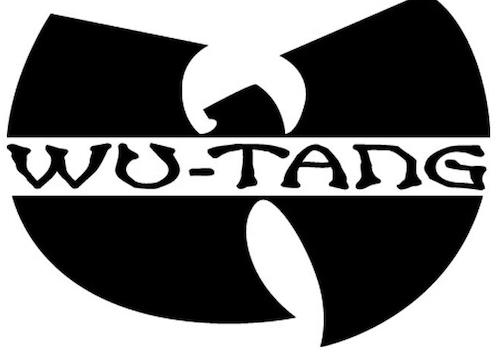 The Wu Tang Clan logo, for a 1990s New York-based hip hop group.