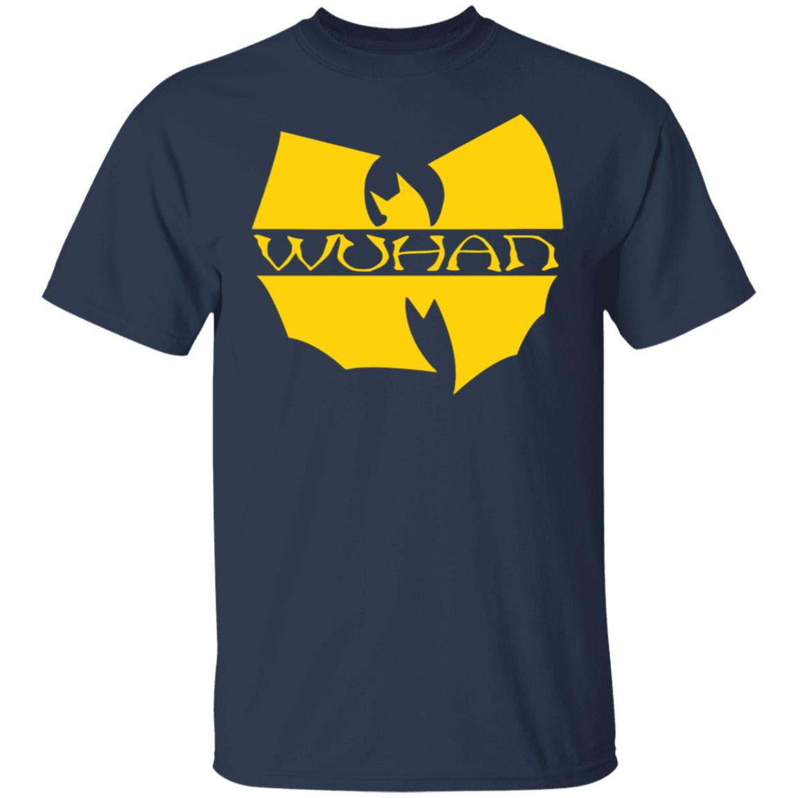Wuhan T-shirt with the Wu Tang logo. Really clever and cheeky. Get yours online.