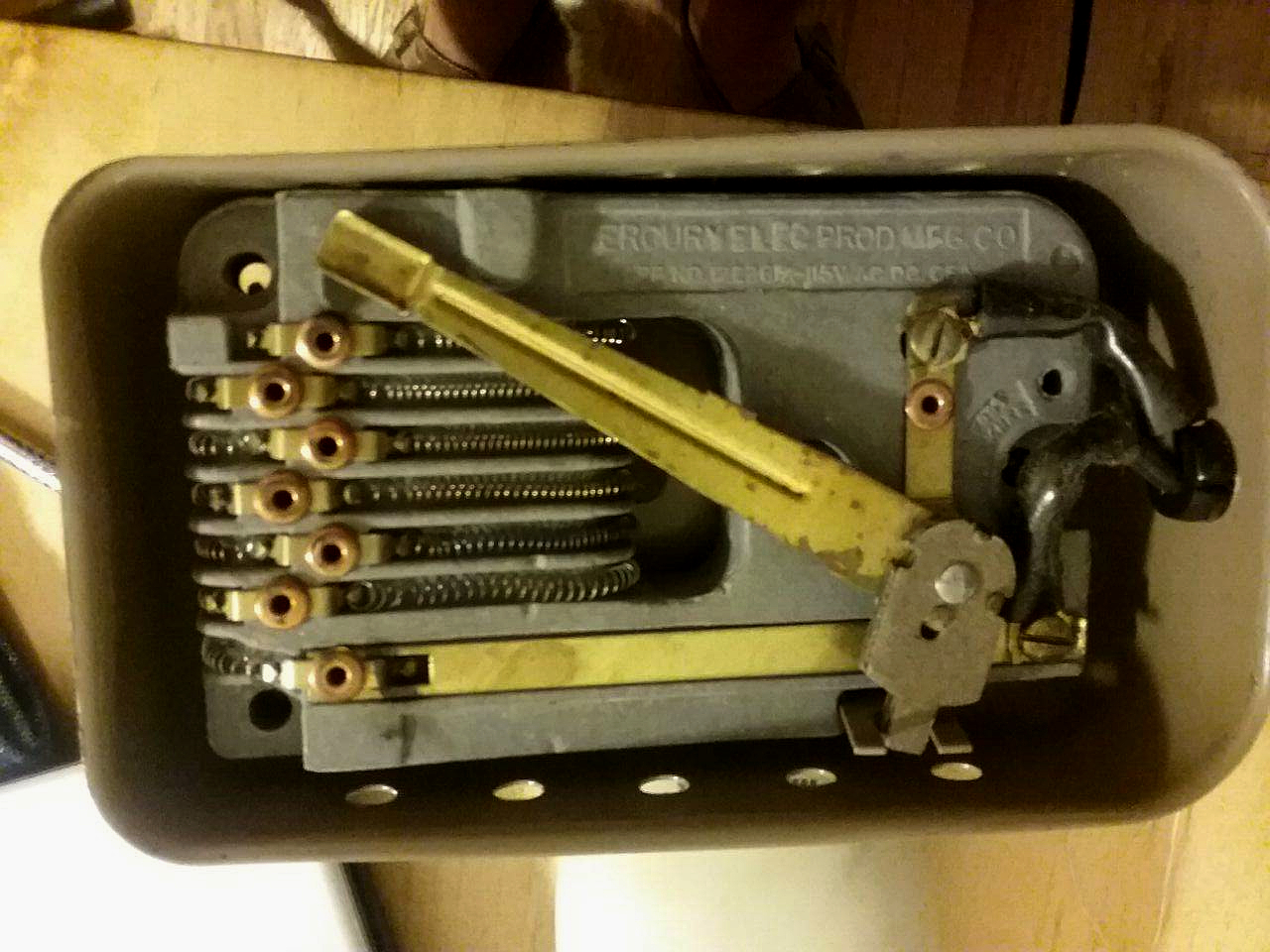Imperial 535 sewing machine pedal. Some springs had come loose, but after replacement did not sew any better. Photo 2 by Don Tai