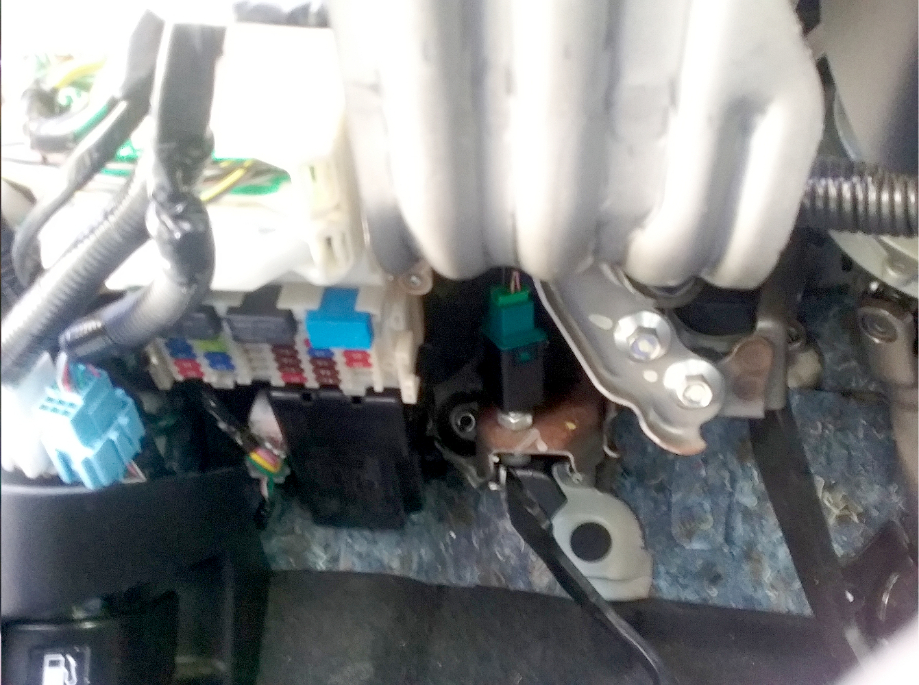 Honda Fit 2016, Replace the clutch interlock switch, which is behind the green clutch pedal position switch  (black rectangle piece). Photo 6 by Don Tai