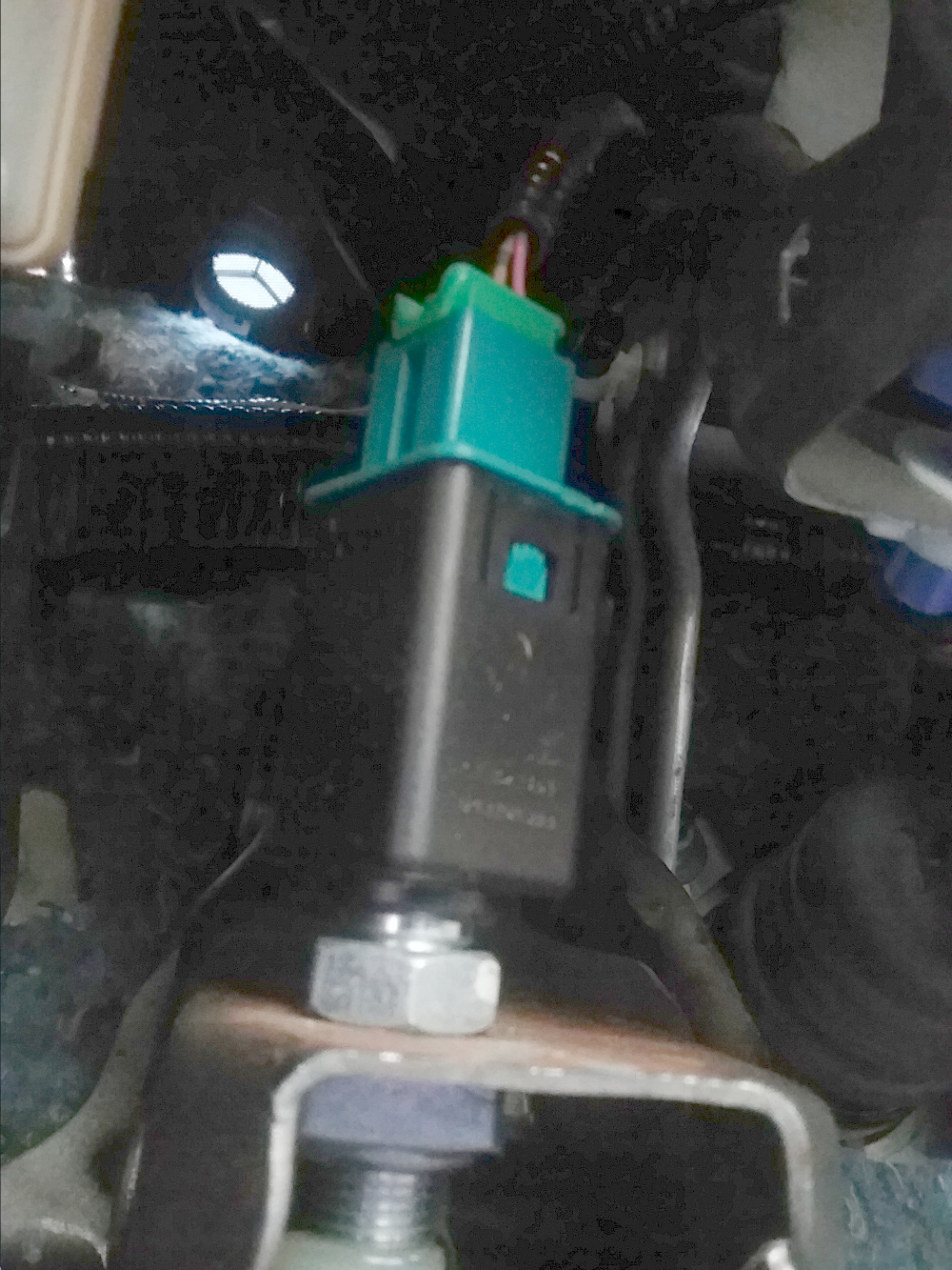 Honda Fit 2016, Replace the clutch interlock switch, which is behind the green clutch pedal position switch  (black rectangle piece). Photo 7 by Don Tai