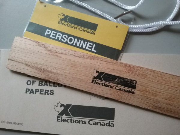 2021 Elections Canada ID, ruler and sample ballots2021 Elections Canada ID, ruler and sample ballots. Photo by Don Tai